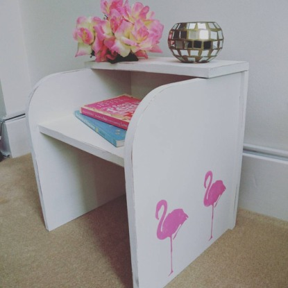 Flamingo Small Bedside Table, £29