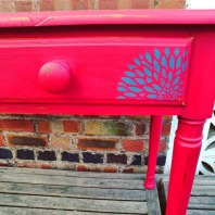 Red Dahlia Stencilled Desk, £149