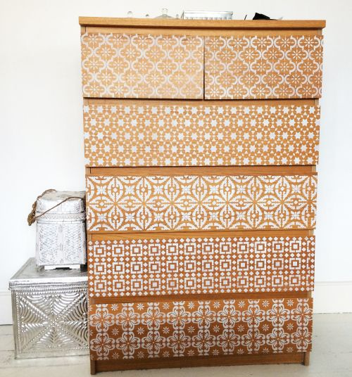 drawers-ikea-stencilled