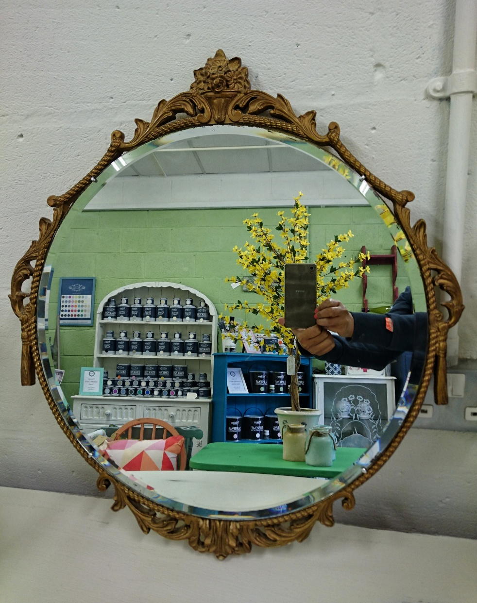 Baroque Mirror at Shelle's Chic