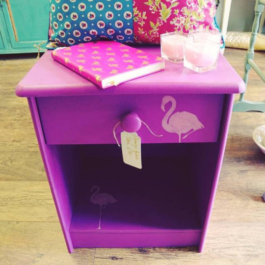 Flamingo Bedside Table