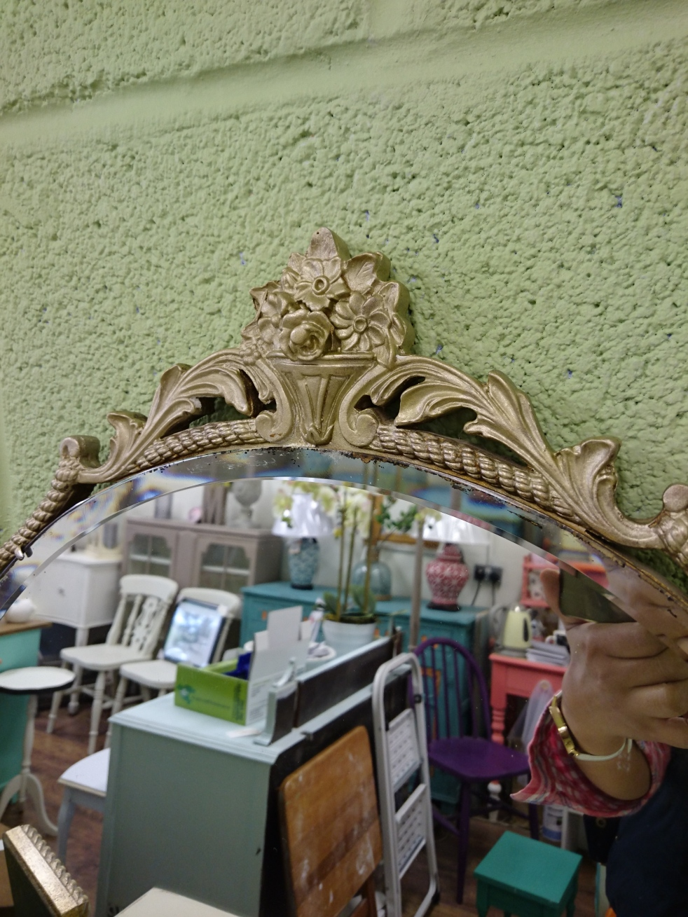 Painted Baroque Mirror 2 at Shelle's Chic