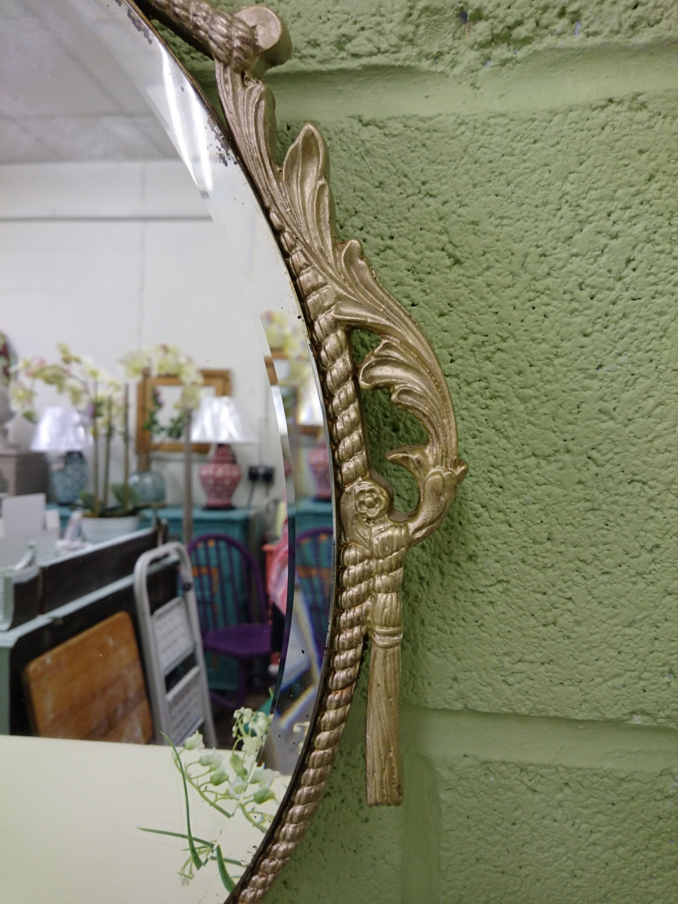 Painted Baroque Mirror 3 at Shelle's Chic