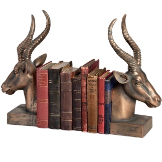 Aged Bronze Antelope Bookends, £45