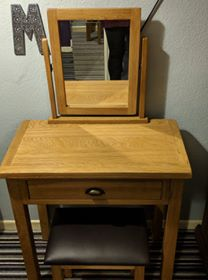 A dressing table or desk...