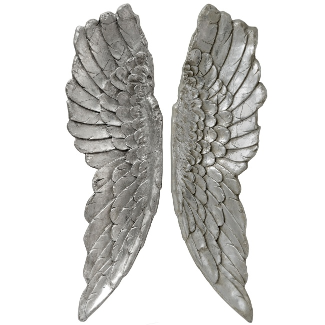 Large Antique Silver Angel Wings, £120