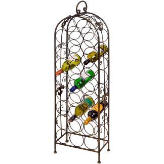 24 Bottle Aged Bronze Wine Rack, £50