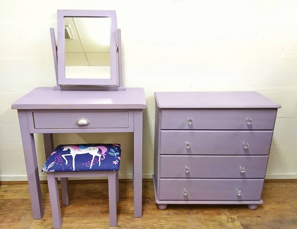 Upcycled Girl's Bedroom Set in Vintro Amethyst at Shelles Chic